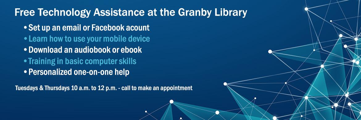 Free Technology Assistance at the Granby Library